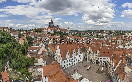 germany saxony meissen cityscape with albrechtsburg