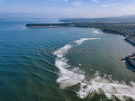 russia primorskykrai nakhodka aerial view of