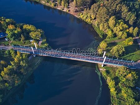 aerial view of bridge over kotorosl