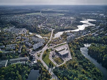 beautiful cityscape of sergiyev posad russia