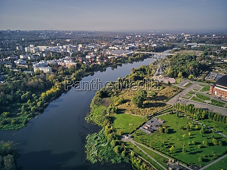 aerial view of kotorosl river in