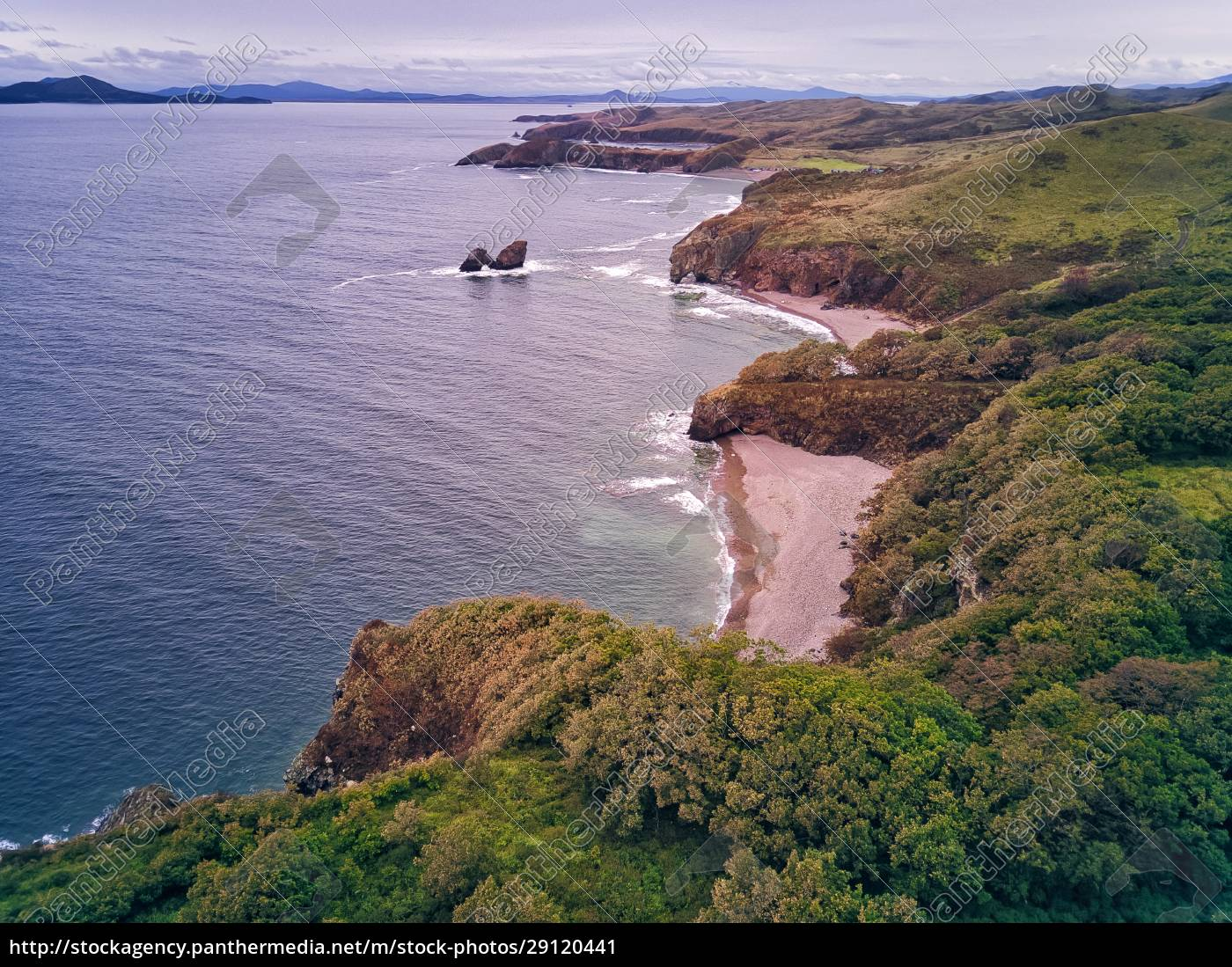 aerial, view, of, cliff, by, sea - 29120441