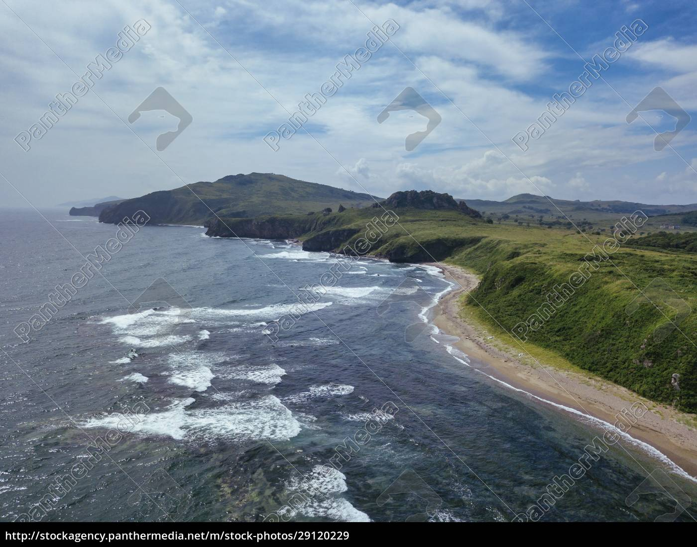 aerial, view, of, coastal, beach, and - 29120229