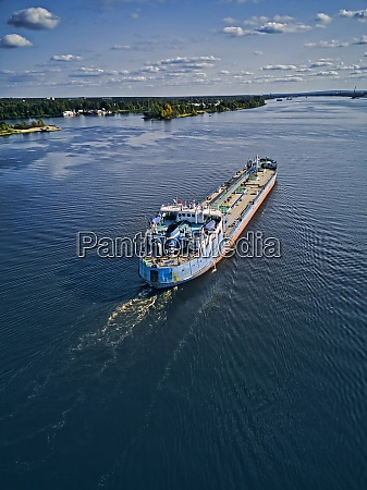 aerial, view, of, oil, tanker, moving - 29120725