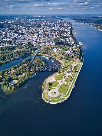 aerial, view, of, park, by, city - 29120999