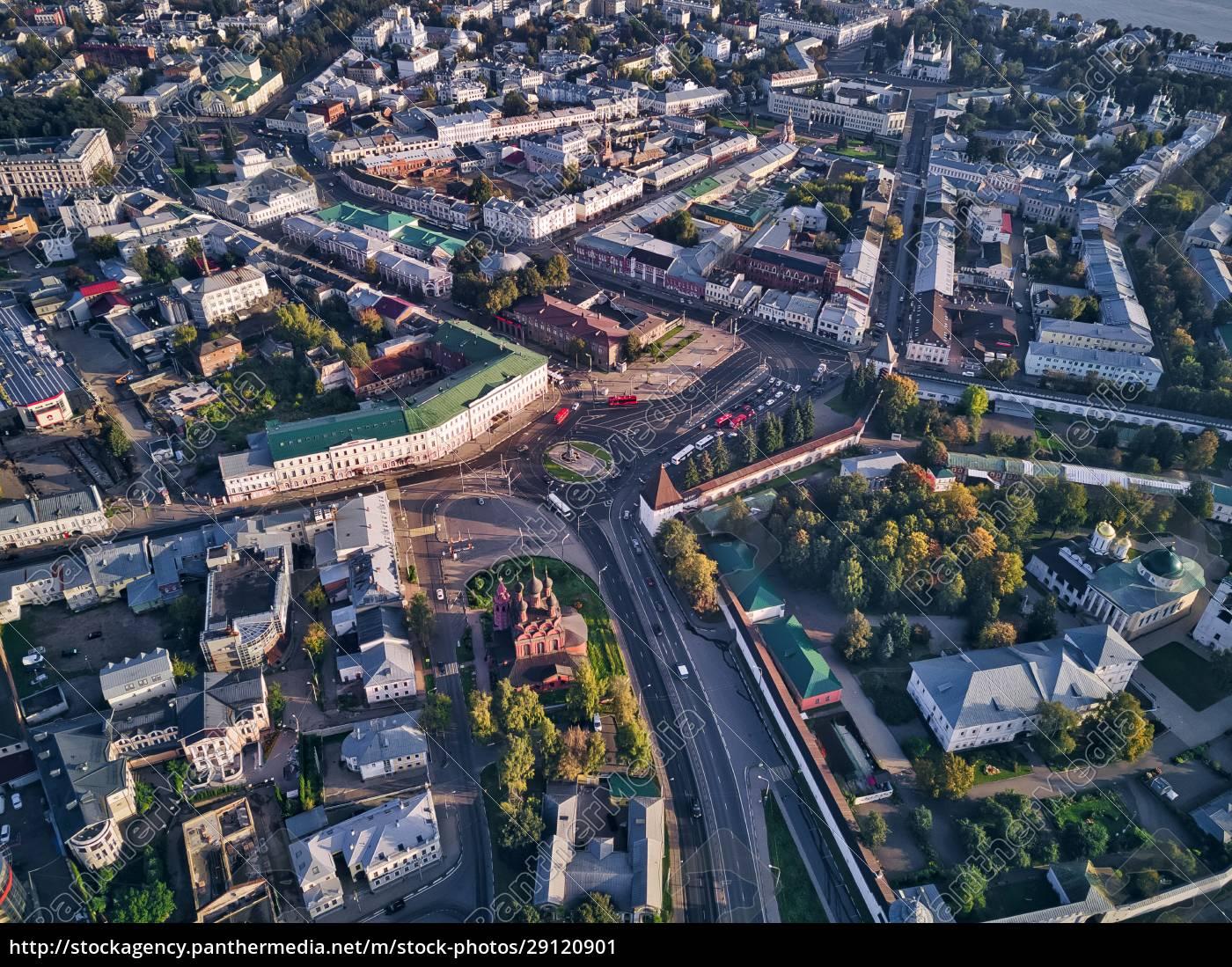 aerial, view, of, yaroslavl, city, on - 29120901