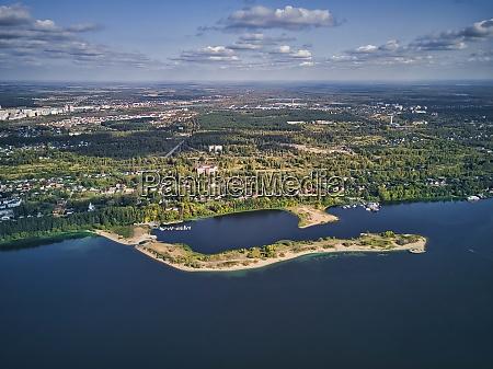 city, near, volga, river, against, sky - 29120734