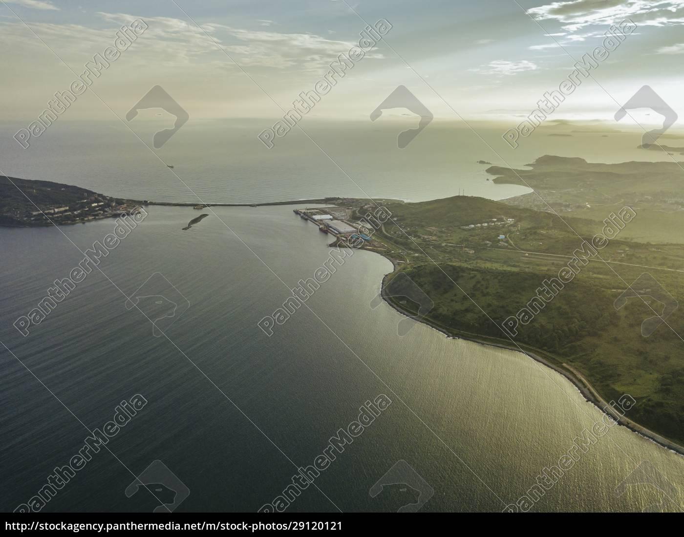 russia, , primorsky, krai, , zarubino, , aerial, view - 29120121