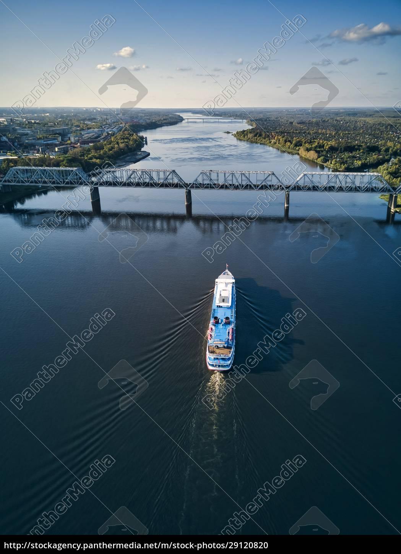 ship, moving, along, volga, river - 29120820