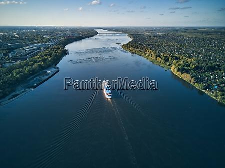 ship, moving, on, volga, river, against - 29120828