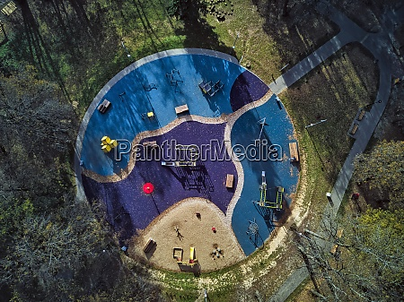 directly above view of public park