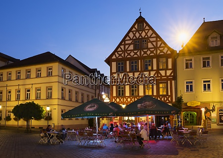 germany bavaria karlstadt market square