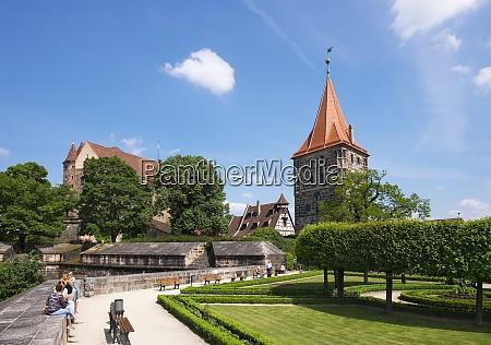 germany bavaria nuremberg castle garden place