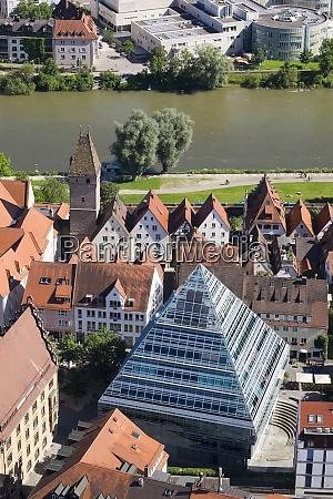 germany baden wuerttemberg ulm glass pyramide