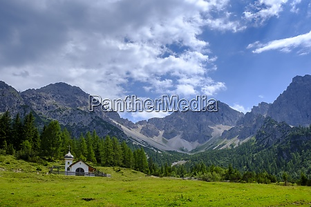 scenic view of lone chapel in