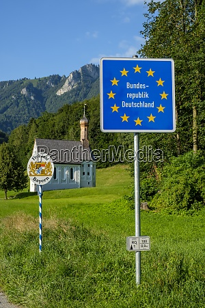 germany bavaria nussdorf state border information