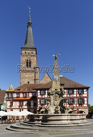 germany bavaria franconia schwabach church town