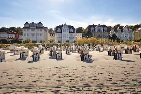 germany usedom bansin hooded beach chairs
