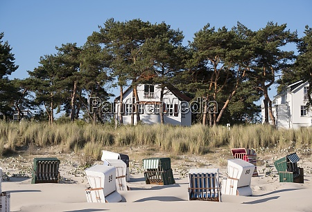 germany usedom bansin hooded beach chair