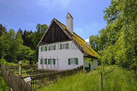 germany bavaria gessertshausen glaserschuster house thatched