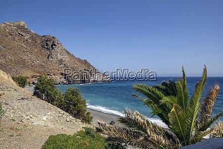 greece crete dytikos beach in summer