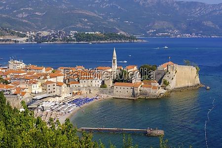 montenegro adriatic coast budva old town