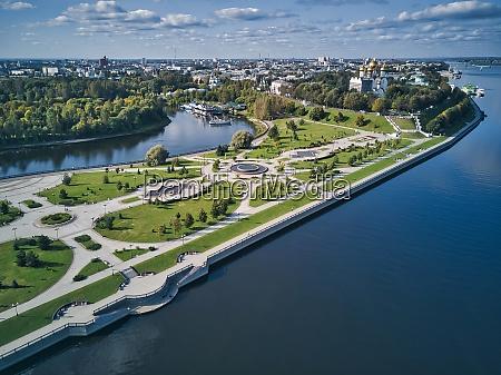aerial, view, of, park, amidst, volga - 29121007