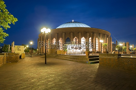germany dusseldorf concert hall at night