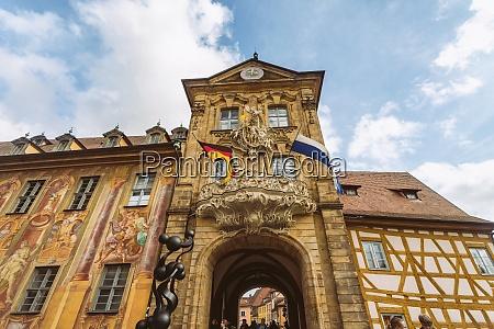 germany bavaria bamberg facade of the