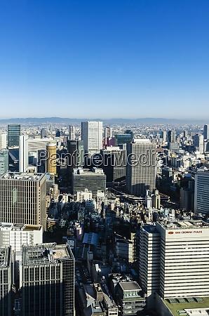 japan osaka nakanoshima district cityscape