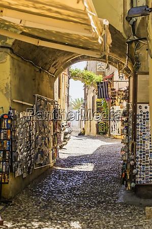 greece rhodes old town souvenir shop
