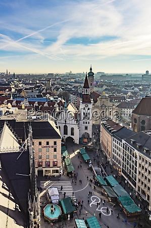 germany munich view to viktualienmarkt old