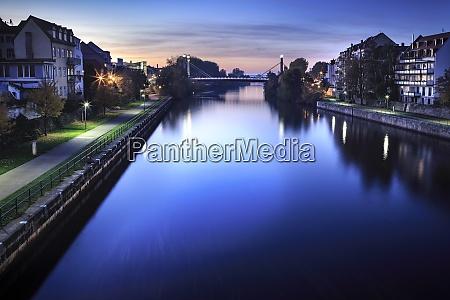 germany bavaria franconia bamberg regnitz river