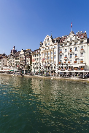 switzerland luzern row of houses and