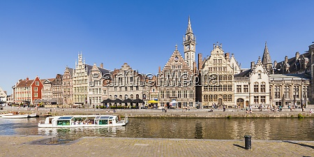 belgium ghent old town historical houses