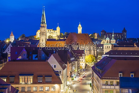 germany bavaria nuremberg old town by
