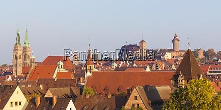 germany bavaria nuremberg old town cityscape