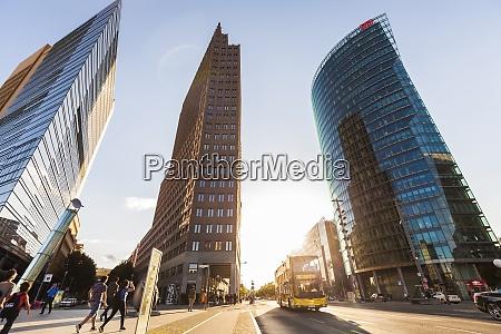 germany berlin potsdamer platz skyscrapers and