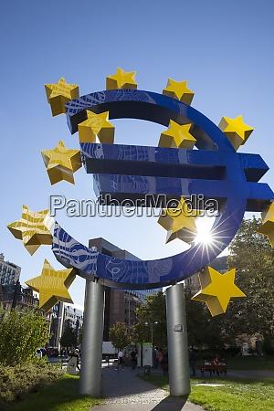 germany hesse frankfurt european union sign