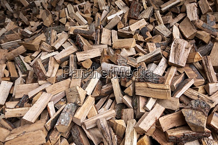 large heap of firewood
