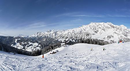 austria ski area muehlbach hochkoenig in
