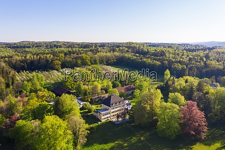 germany bavaria herrsching drone view of