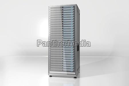 server tower against white background
