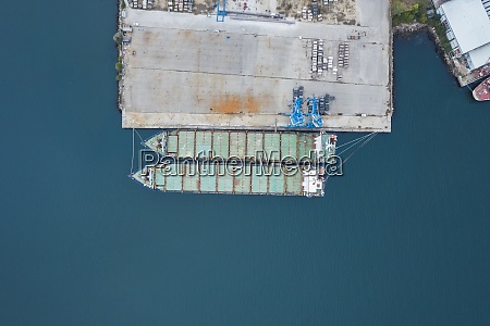 drone, view, of, container, ships, moored - 29125239