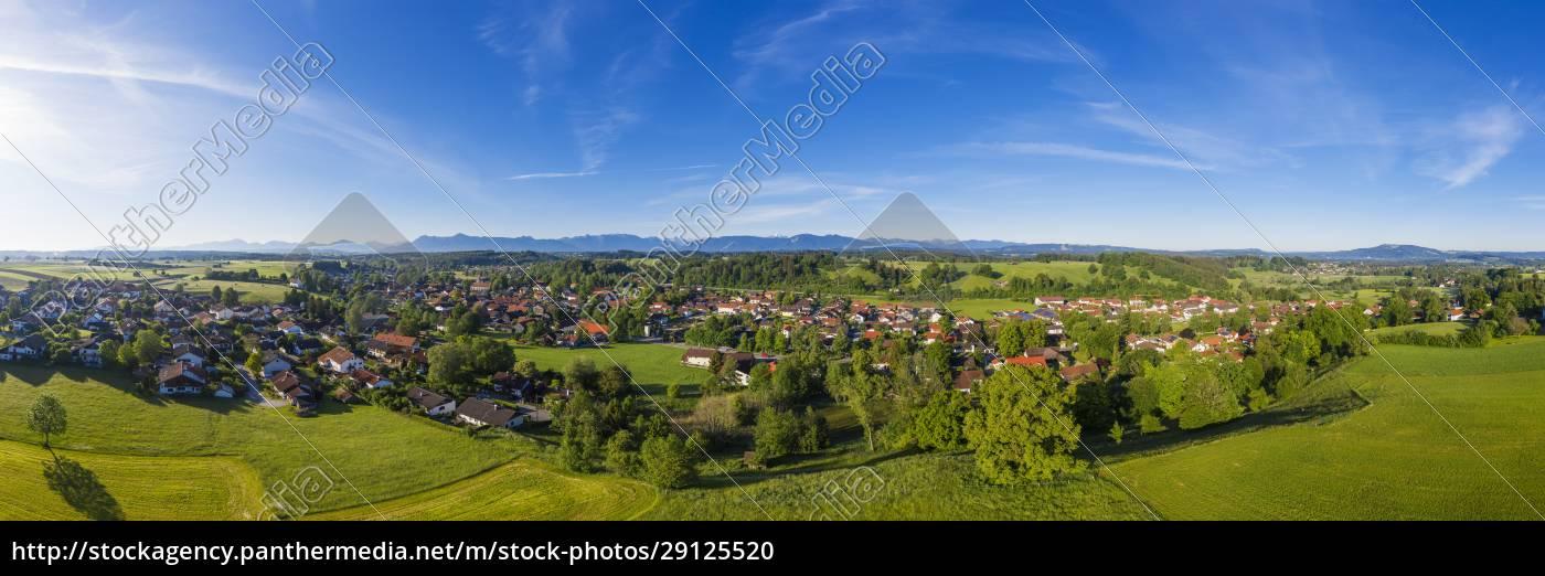 germany, , bavaria, , huglfing, , drone, panorama, of - 29125520