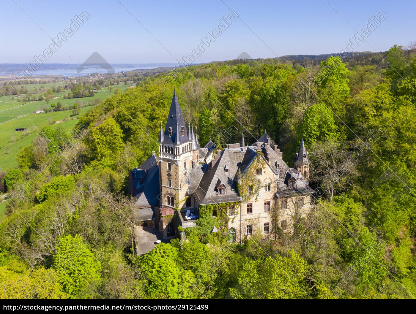 germany, , bavaria, , pahl, , drone, view, of - 29125499
