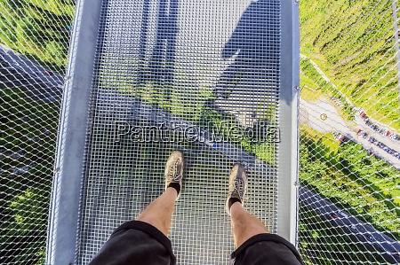 austria legs of senior man standing