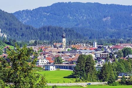 austria tyrol reutte alpine town in