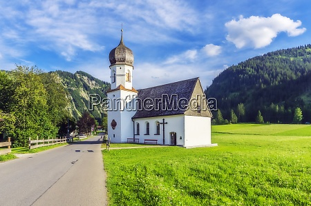 austria tyrol small countryside church in