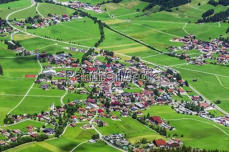austria tyrol aerial view of rural